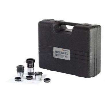 Celestron Observers Eyepiece and Filter Kit 1.25 Inch - Includes T-Adapter Barlow